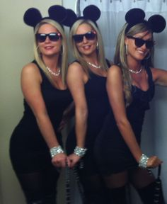 Three blind mice Halloween costumes groups of three