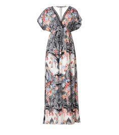 Boho style maxi φόρεμα με διακοσμητική τρέσα στο μπούστο και την πλάτη.