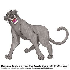 Bagheera from The Jungle Book with ProMarkers