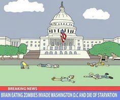 Brain eating zombies...