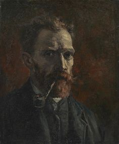 In Paris Vincent got acquainted with Monticelli's artwork. He admired the painter, and in this Self-Portrait he tried to apply Monticelli's use of color and lighting. #VanGoghMuseum #VanGogh#Museum #Art #VincentVanGogh #Amsterdam#Painting #SelfPortrait #paris
