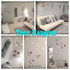 Teen Hangout Room -   A bright and cozy teen hangout for my girls to do homework, relax and hang out with their friends.