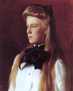 Joseph DeCamp (American artist, 1858-1923) Miss Alice Boit 1898