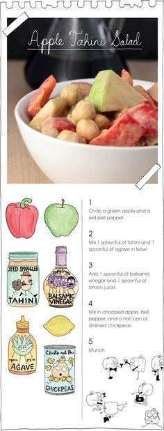 The Vegan Stoner's Apple Tahini Salad