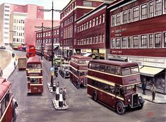 Cooperline: A portfolio of the transport art and photography of W. Cooper and the artwork of D. Michael Carter, Coventry City, Commercial Vehicle, Coaches, Buses, Transportation, Street, Creative, Modern