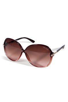 TOM FORD  Rosewood Bi-Color Square Frame Sunglasses