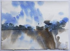 Lex Hamers. Skies over Holland. Watercolour.2013 www.lexhamers.com