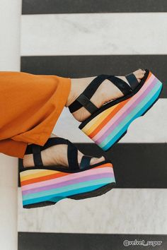 Product Name:Rocket Dog Rainbow Platform Sandals, Category:Shoes, Price:38
