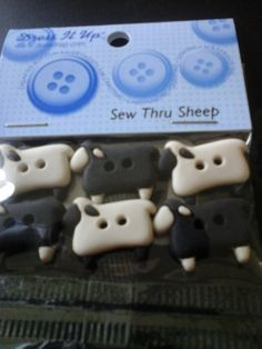 sheep buttons by HABERDASHERYHAVEN on Etsy