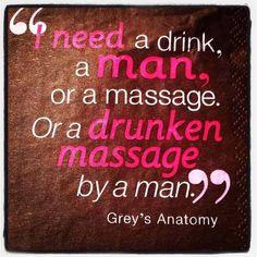 Drunken massage