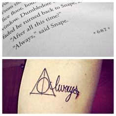 "My new Harry potter tattoo⚡️ slightly obsessed! ""After all this time?"" ""Always."""