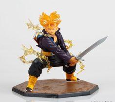 Dragonball Z Sagas Dragon Ball Super Saiyan Trunks SonGoku Son Goku Radish Kakarotto 24CM PVC  Action Figure Model Kids Gift #Affiliate