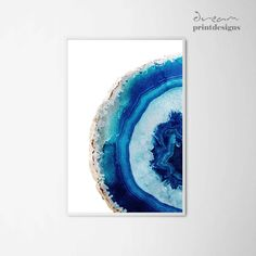 Agate Printable Poster, Watercolor Agate Print, Agate Art, Decorative Wall Art, Blue Agate Poster, Geode Art Print, Gemstone Mineral Art by DreamPrintDesigns on Etsy https://www.etsy.com/listing/536787675/agate-printable-poster-watercolor-agate