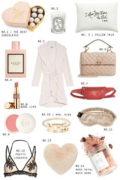 ROMANTIC PICKS - great valentines gifts for her - STEPHANIE STERJOVSKI woman / women gift guide - girly & feminine