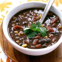 Spicy Black Bean Soup Recipe | Weight Watchers Canada