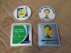 OFFICIAL FIFA WORLD CUP BRASIL 2014 QUALIFIERS PATCH WC BRAZIL - 2 PATCHES  | eBay
