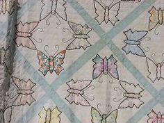 Antique Butterfly Quilt Hand Made with Hand Applique | eBay, lakonncepts