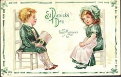 Irish Americana St. Patricks Day Lad/Lass Fond Memories