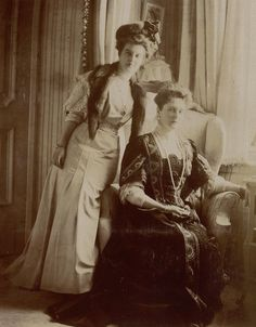 Alexandra and Grand Duchess Maria Pavlovna Romanov