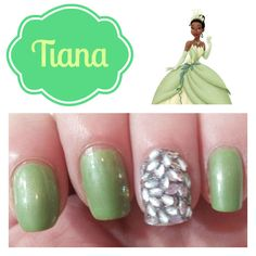 Tiana (The Princess and the Frog) nails from Hairspray and High Heels.