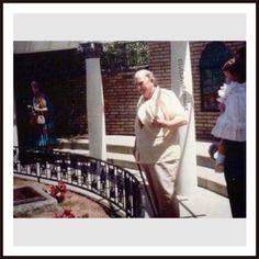 Colonel Tom Parker, visiting Elvis's grave at Graceland