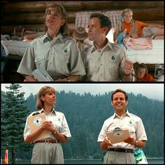Happy Birthday to Peter MacNicol (April pictured here as Gary Granger in 'Addams Family Values' Gary and his wife Becky (Christine Baranski, also pictured) run Camp Chippewa. Camping Style, Camping Theme, Family Camping, St John Fisher, Peter Macnicol, Addams Family Values, Charles Addams, Gothic Horror, April 10