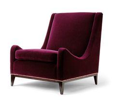 Exquisite, Jewel-toned, Velvet Sloop Chair - Mid-Century / Modern Armchairs - Dering Hall