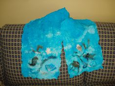 The first silk scarf I needle felted