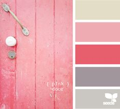 Pink door. girls' room palette