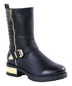 Loving this Black Quilted Lindsay Boot on #zulily! #zulilyfinds