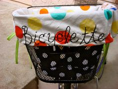 feeling stitchy - bike basket liner tutorial & pattern