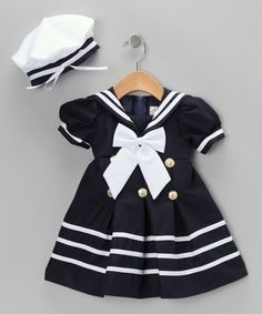 Navy Sailor Dress & Hat - Infant & Toddler | Daily deals for moms, babies and kids - Made in the USA