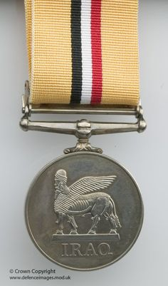 Operation Telic Campaign Medal for Service in Iraq.