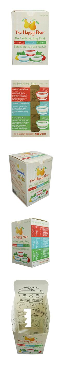 The Happy Pear. Packaging printed digitally by esmark finch. Print Packaging, Pear, Printed, Digital, Happy, Design, Happy Happy Happy, Design Comics