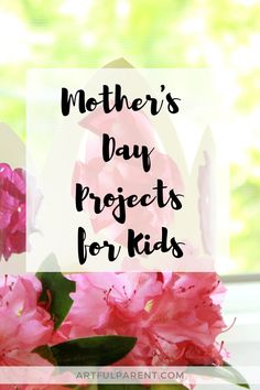 Everything you need to celebrate Mom on Mother's Day, including activity ideas for the day itself! (Plus this list is adaptable for grandparents, teachers, dads...) Fun Activities For Kids, Activity Ideas, Craft Activities, Mother's Day Projects, Projects For Kids, Craft Projects, Crafts For Kids To Make, Creative Kids, Kids Gifts