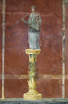 Euterpe. Neronian age. Pompeii, Great Gymnasium Roman History, Art History, Ancient Rome, Ancient Art, Pompeii Paintings, Ancient Roman Clothing, Tattoo Roman, Standing Buddha Statue, Art Tumblr
