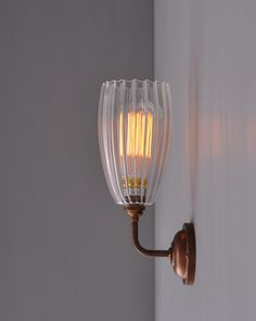Upton contemporary wall light contemporary wall lights wall contemporary wall light with ribbed upton glass shade mozeypictures Image collections