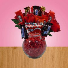 Taylor Made For You - Valentine Candy Bar Bouquet, $15.00 (http://www.taylormadeforyou.com/valentine-candy-bar-bouquet)