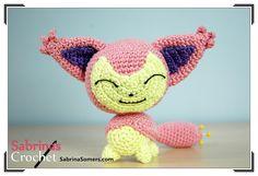 Skitty - Pokemon - Free Crochet Pattern in English or Dutch at Sabrina's Crochet.