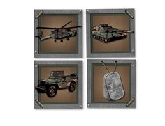 Amazon.com: Camo Army Military Peel and Stick Wall Art: Home & Kitchen