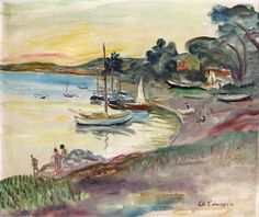 Charles Camoin - Canoubiers Beach in Saint Tropez Saint Tropez, Art Français, Star Sky, Henri Matisse, French Artists, Great Artists, Art Boards, Pastels, Sculpture