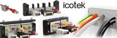 Known for their patented cable entry systems, Icotek is used within a vast number of industries. From machining, railroads, and even turbine solar, you can find that Icotek products are being utilized for many different field applications. As an authorized distributor for Icotek, Kinequip is your source for cable glands, grommets, strain reliefs, EMC|EMI cable shield grounding enclosure, cork grips and accessories.