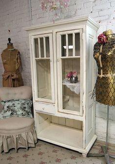 China Cabinet Shabby Handmade One of a Kind Farmhouse Cabinet