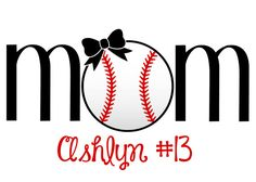 baseball Mom decal with bow - personalized---so very sweet! @Melissa Squires Squires Squires Squires Squires Underwager
