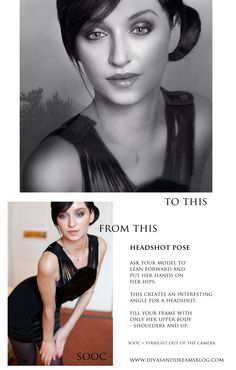 Headshot Posing: Before and After