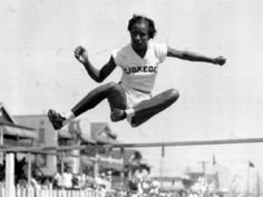 The first female African American selected for the U. Olympic team, Alice Coachman became the first black woman of any nationality to win a gold medal at the Olympics with her victory was in the high jump at the 1948 Summer Games in London American Athletes, Female Athletes, Women In History, Black History, Olympic Gold Medals, Jackie Robinson, High Jump, Summer Olympics, African American History