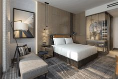 Hilton Signs Nine Hotels in Mexico - Hospitality Design Loft Hotel, Hotel Room Design, Hospital Design, Built In Furniture, Luxurious Bedrooms, Luxury Bedrooms, Hotel Decor, Modern Bedroom Design, Hotel Interiors