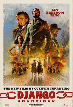 Poster pintado de Django Desencadenado