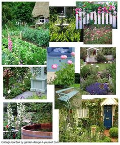 A pretty cottage garden - overflowing with blooms, and maybe even edible flowers, herbs, fruit and veg - a nostalgic and relaxing garden... More help with designing your garden at http://www.garden-design-it-yourself.com