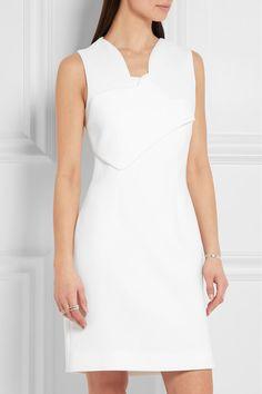 Carven Scalloped Crepe Mini Dress